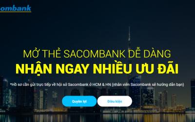 Hướng dẫn đăng ký mở thẻ tín dụng Sacombank