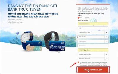Hướng dẫn đăng ký mở thẻ tín dụng Citibank